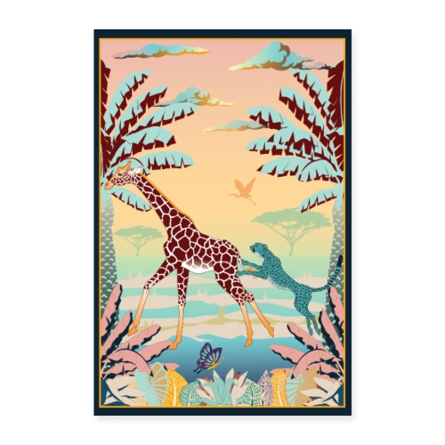 Poster Chasse africaine 2 - Poster 60 x 90 cm
