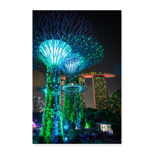 Supertrees in Singapur - Poster 60x90 cm