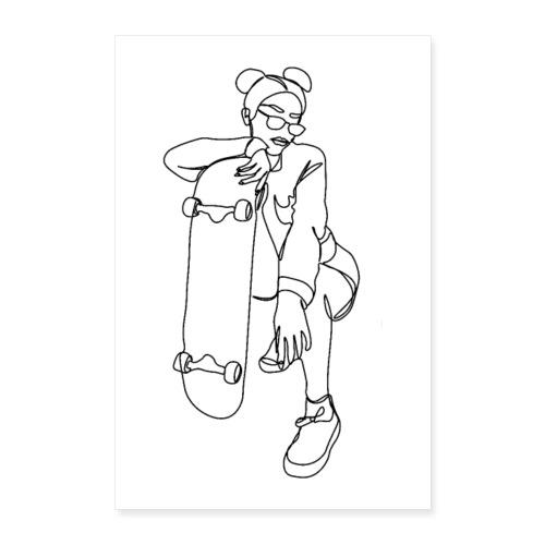 SKATER GIRL - Poster 60x90 cm