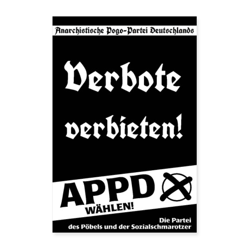 Poster Verbote verbieten! - Poster 60x90 cm