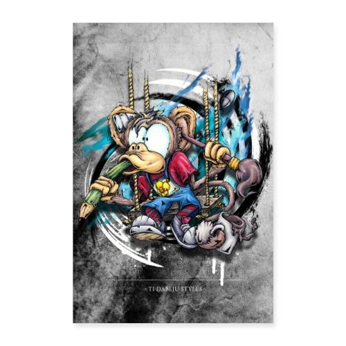Designäffchen - Poster 60x90 cm