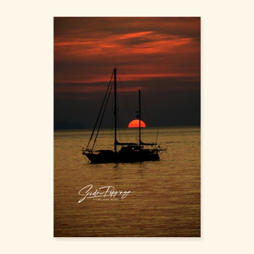 sailingboat - Poster 24 x 35 (60x90 cm)