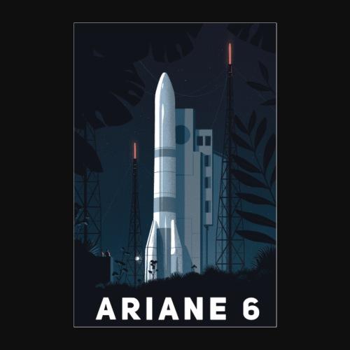 Ariane 6 - At night By Tom Haugomat - Poster 24 x 35 (60x90 cm)