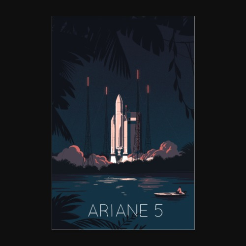 Ariane 5 - Launching By Tom Haugomat - Poster 24 x 35 (60x90 cm)