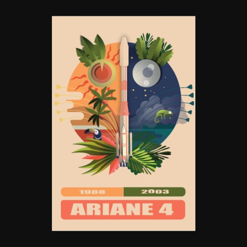 Ariane 4 - Carnival figures and legends - Poster 24 x 35 (60x90 cm)