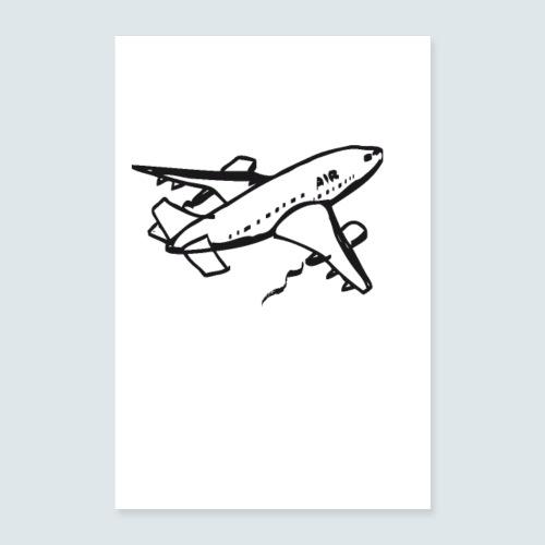 flugzeug - Poster 60x90 cm