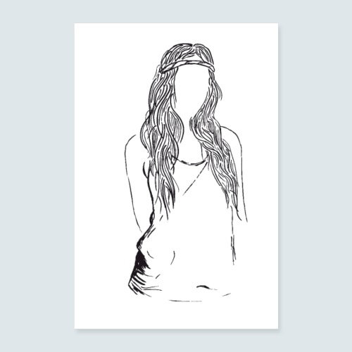 Hippie Lady - Poster 60x90 cm