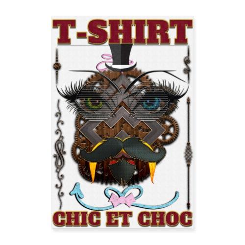 T-shirt chic et choc - Poster - fond couleur blanc - Poster 60 x 90 cm