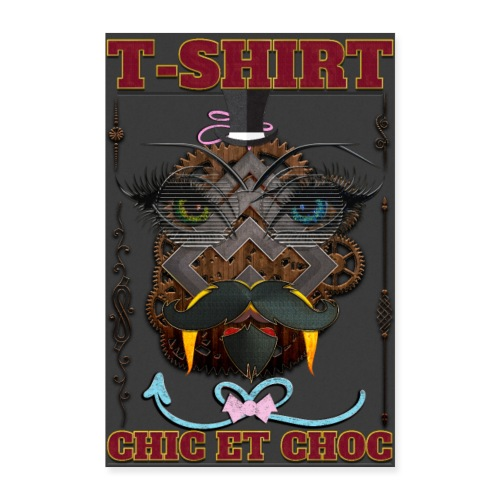 T-shirt chic et choc - Poster fond couleur noir - Poster 60 x 90 cm