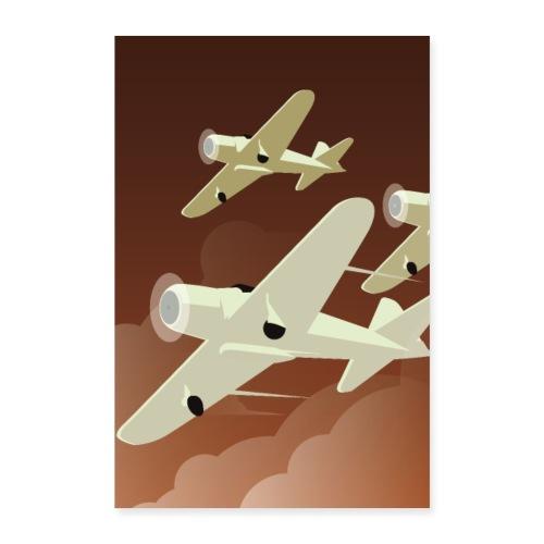 Art Déco | Avions - Poster 60 x 90 cm