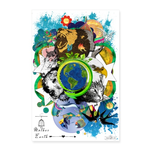 Poster - Mother Earth (us) -by- Tshirtchicetchoc - Poster 60 x 90 cm