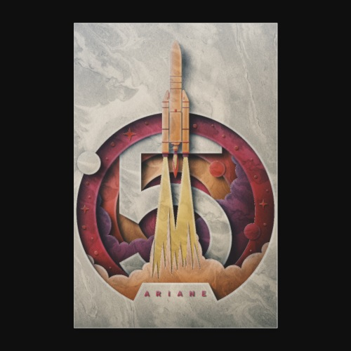Ariane 5 - Lift off By Fugstrator - Poster 24 x 35 (60x90 cm)
