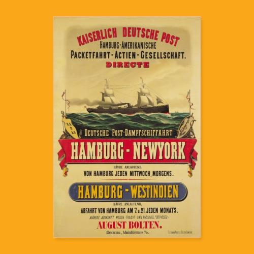 Dampfschifffahrt Kaiserliche deutsche Post - Poster 60x90 cm