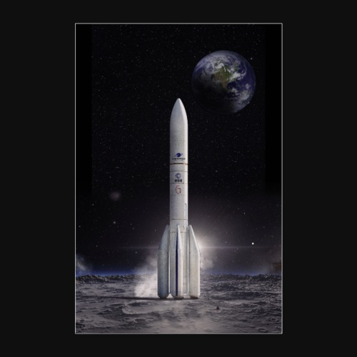 Ariane reaches for the Moon - Poster 24 x 35 (60x90 cm)