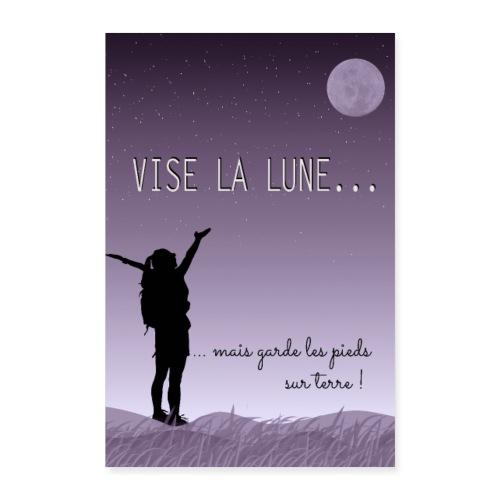Affiche citation Vise la lune ... - Poster 60 x 90 cm