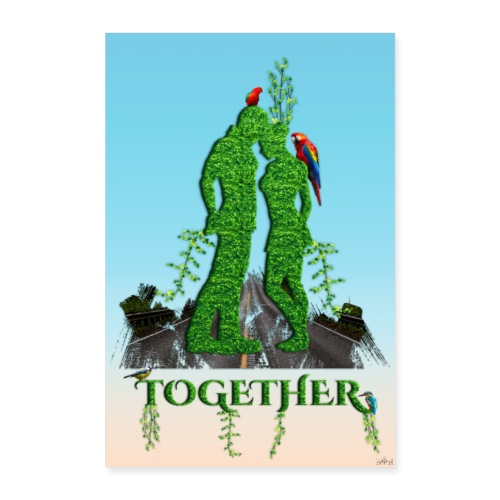 Poster - Together love nature - Poster 60 x 90 cm