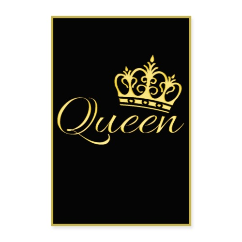 Poster - Queen couleur or - Poster 60 x 90 cm