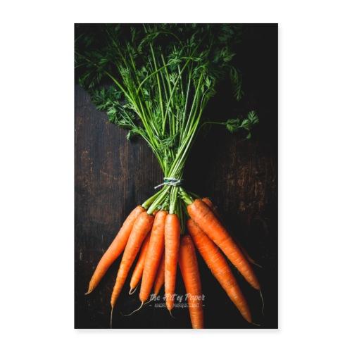 Karotten Liebe - Küchen Kunst 01 - Poster 60x90 cm