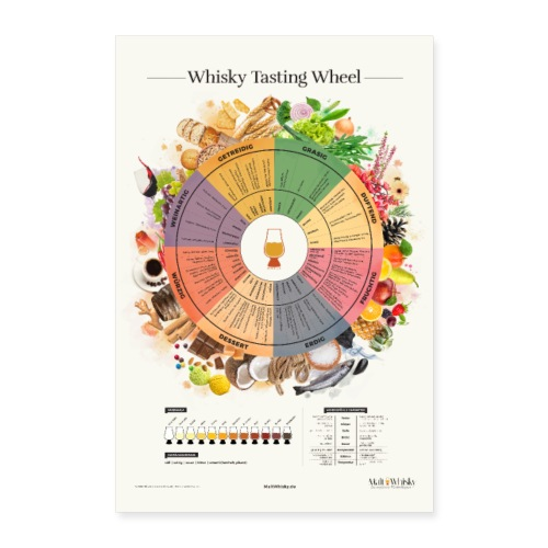 Whisky Tasting Wheel - Poster 60x90 cm