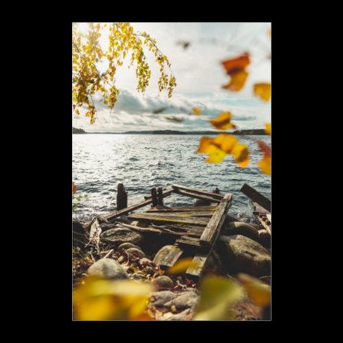 Syksyinen vanha laituri - Juliste 60x90 cm