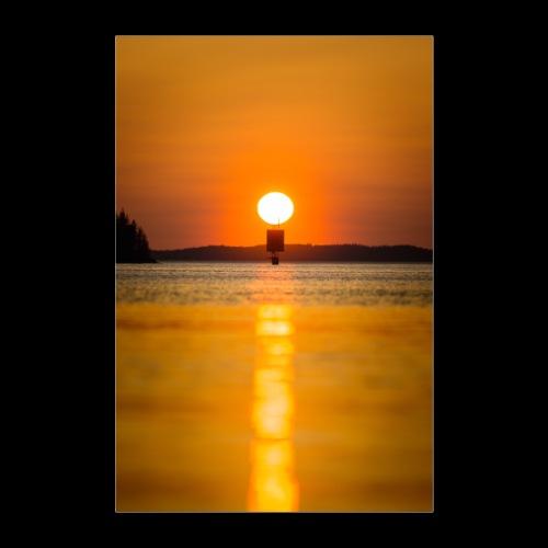 Helteinen auringonlasku Saimaalla - Juliste 60x90 cm