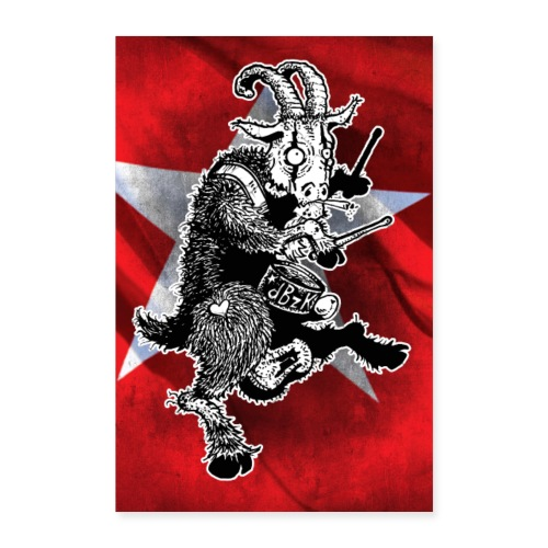Poster de Bok Z'n Kloete - Poster 60x90 cm