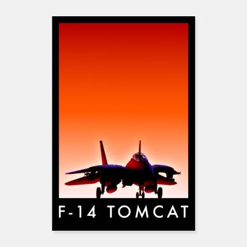 F-14 Tomcat sunset poster / F14 / F 14 - Poster 24 x 35 (60x90 cm)