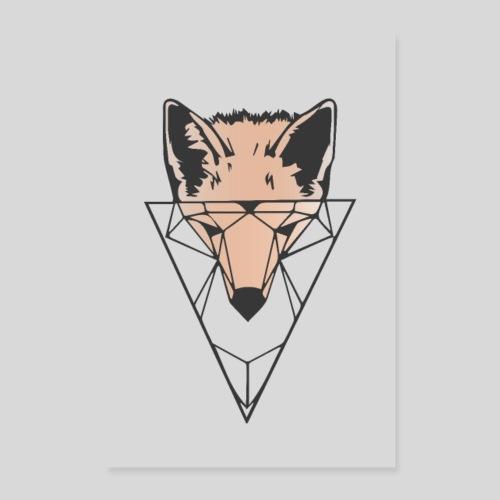 Fuchs Geometrie hell - Poster 60x90 cm