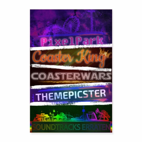 ParkTube Games Poster - Poster 60x90 cm