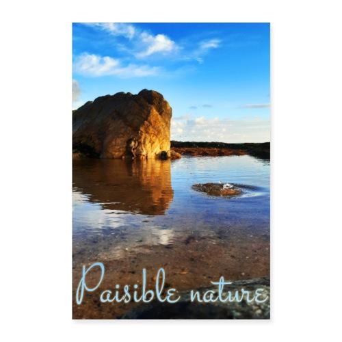 Affiche nature, eau, texte paisible nature... - Poster 60 x 90 cm