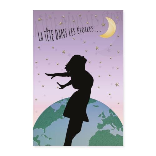 Affiche déco la tête dans les étoiles - Poster 60 x 90 cm