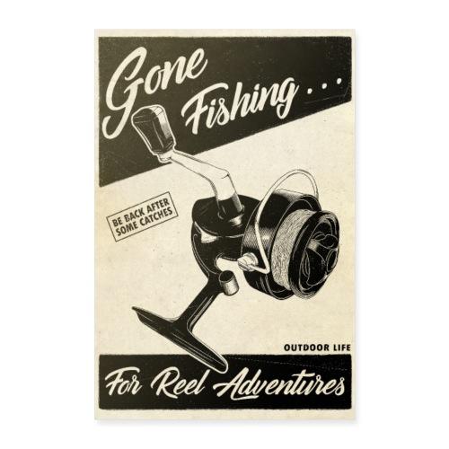 Gone Fishing - Poster 60 x 90 cm