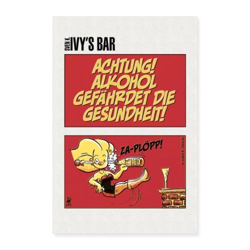 Alkohol gefährdet die Gesundheit - Poster 60x90 cm