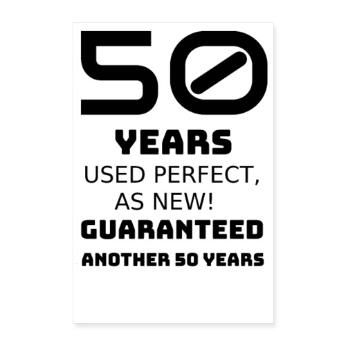 50 years funny happy birthday - Poster 60x90 cm