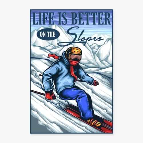 Ski Life - Poster 60 x 90 cm