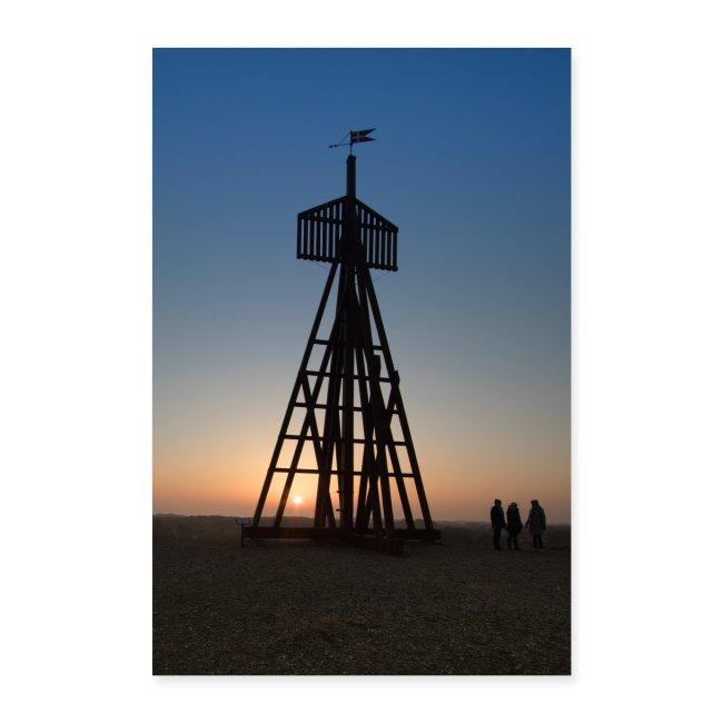 Letshygge-Bilder als Poster: Fanø - das Seezeichen Kåveren - bis zum 16. Juni gibt es 15% Rabatt auf alle meine Designs.