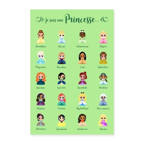 Je suis une princesse - Poster 60 x 90 cm