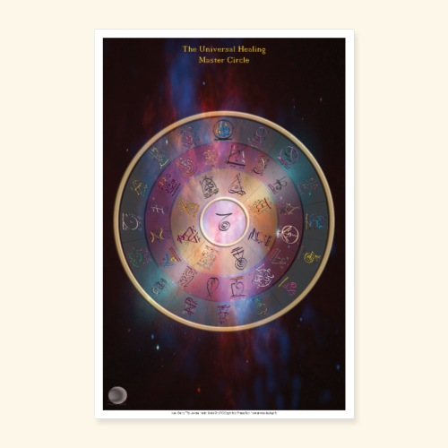 The Universal Healing Master Circle - Poster 60x90 cm