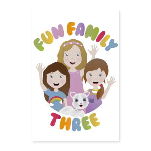 Fun Family Three Logo Poster - Poster 24 x 35 (60x90 cm)