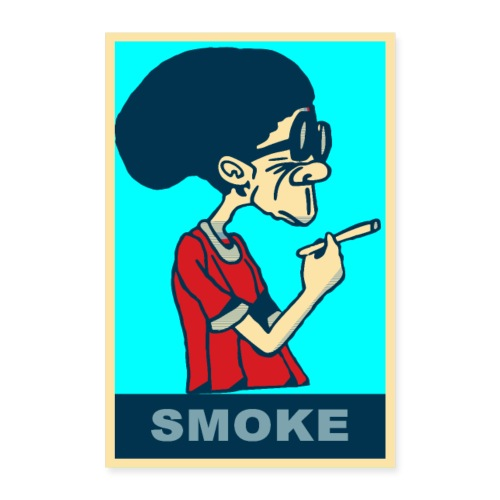 POSTER Kiffer Dude yes we can Hope-Smoke DOPE - Poster 60x90 cm