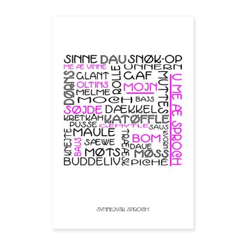 Plakat: De synnejysk sproch å æ væg. - Poster 60x90 cm