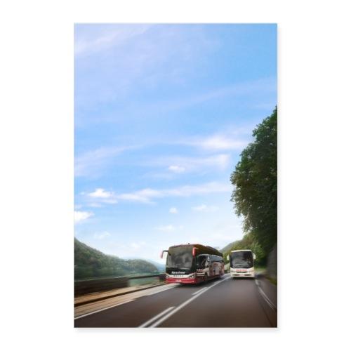 Reisebus Poster 2 - Poster 60x90 cm