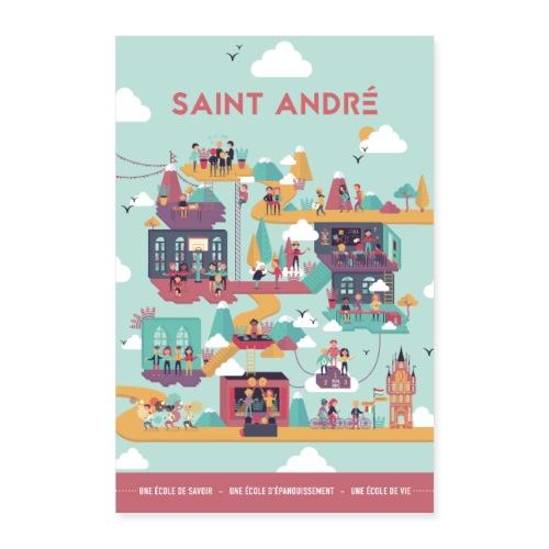 Poster Vie À Saint André 104 - Poster 60 x 90 cm