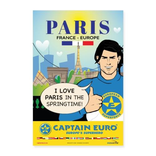 Captain Euro _ Poster PARIS - Póster 60x90 cm