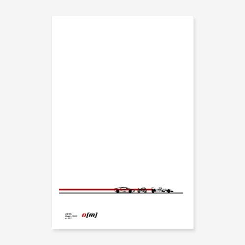 Poster 2019 artwork auto moto sport DM 7y by ELJ - Poster 60 x 90 cm