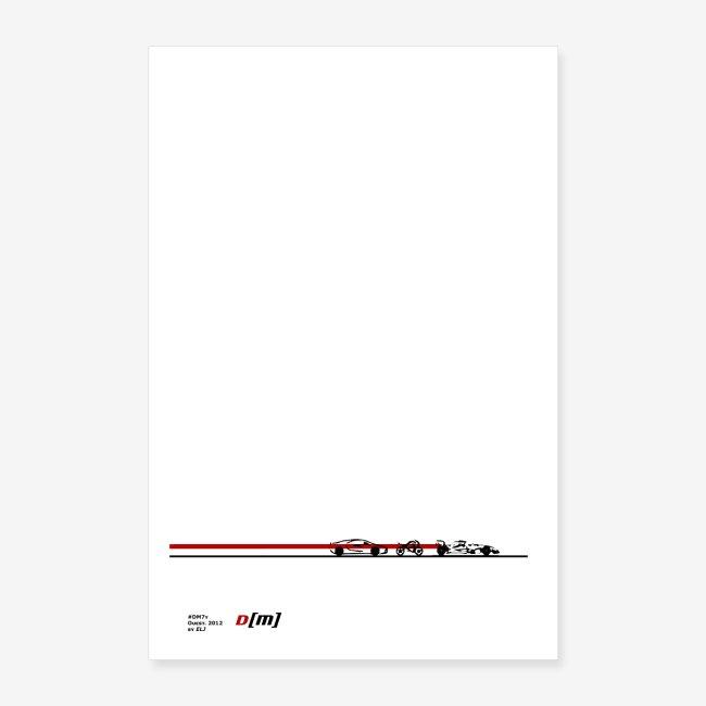 Poster 2019 artwork auto moto sport DM 7y by ELJ