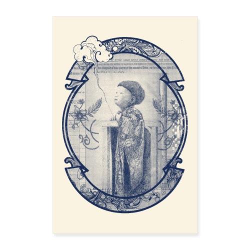 Poster enfant nuage - Poster 60 x 90 cm