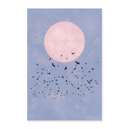 FLY TO THE MOON - Poster 60x90 cm