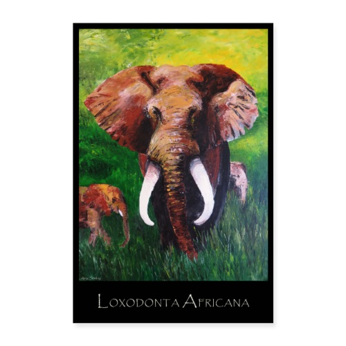 Elefant I Tusker I Afrika - Poster 60x90 cm