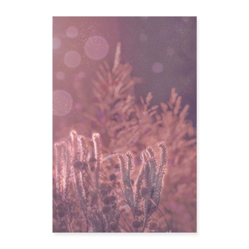 Traumhaft romantisches Bild Flora mit Glitzer - Poster 60x90 cm